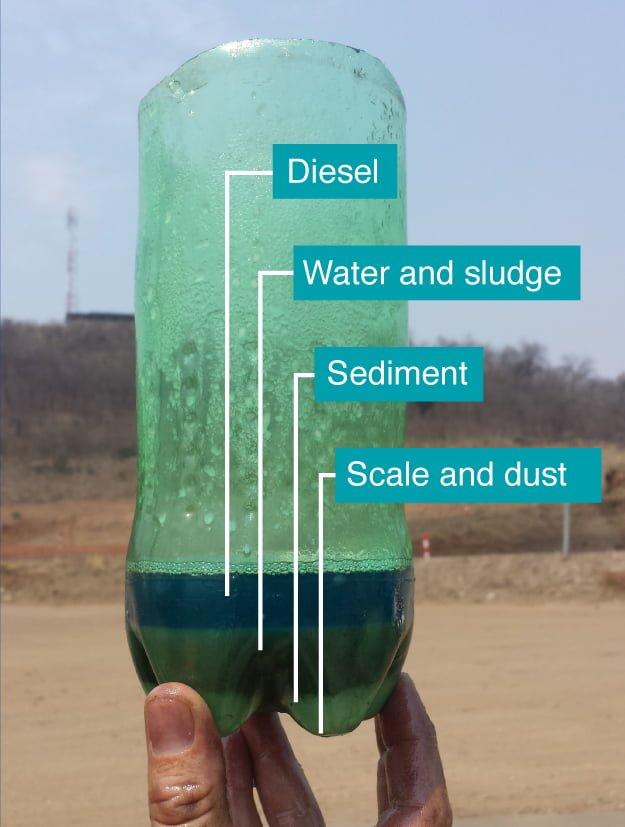 contaminated diesel