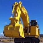 yellow big dozer