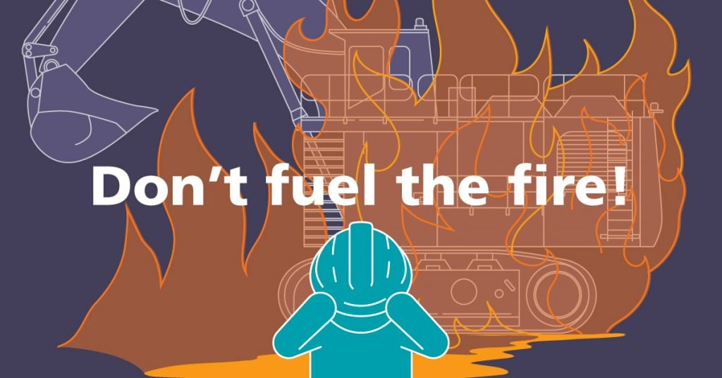 prevent fires on-mine sites