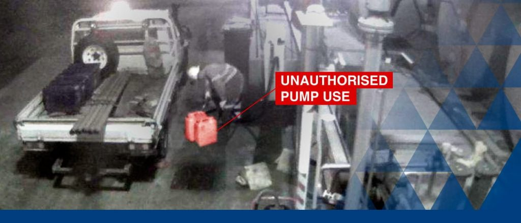 a man with uniform using unauthorised pump use