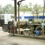 a big truck refuelling