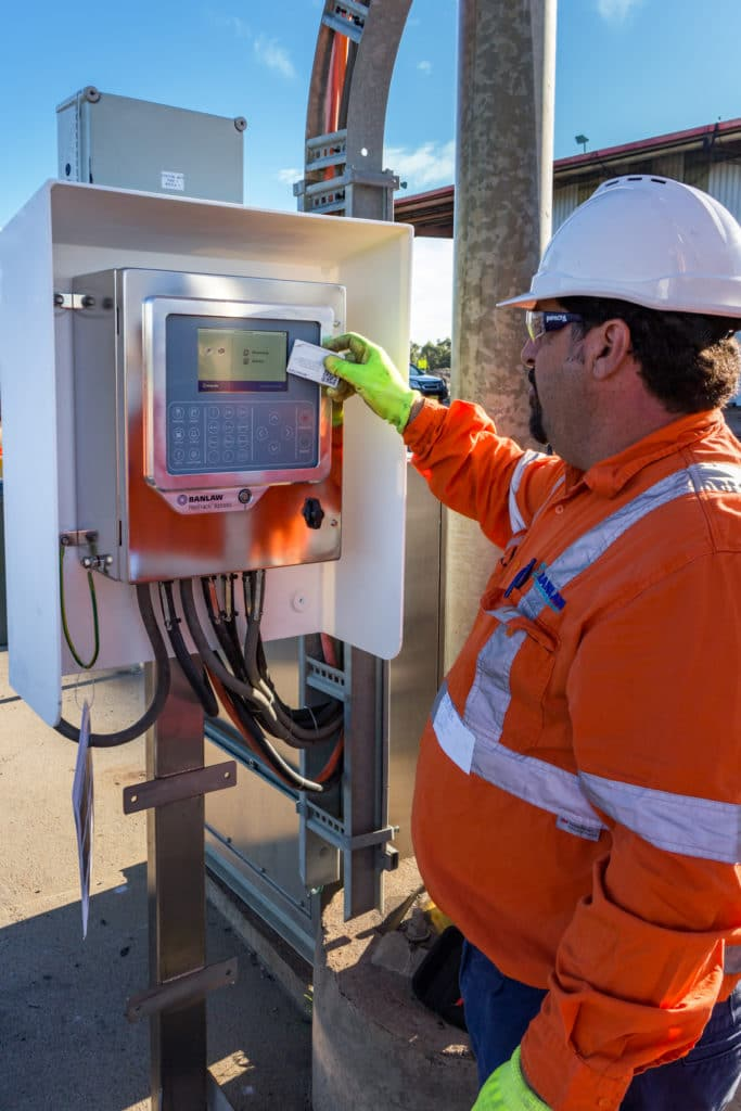 Banlaw Xpress Controller security features for fuel management such as employee swipe cards